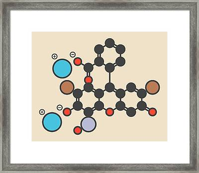 Merbromin Topical Antiseptic Molecule Framed Print by Molekuul