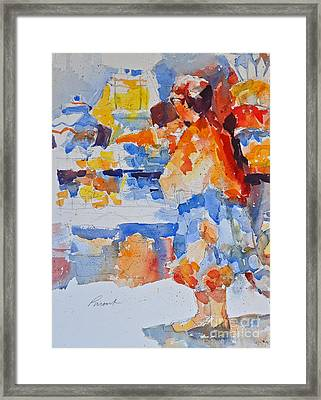 Mercado Lady With Fruit Framed Print