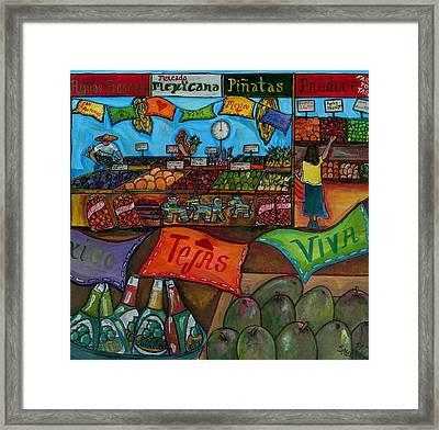 Mercado Mexicana Framed Print by Patti Schermerhorn
