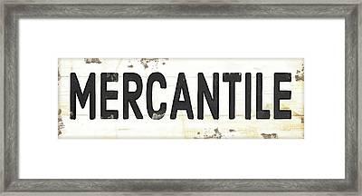Mercantile II Framed Print