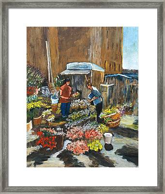 Mercato Framed Print by Niki Mastromonaco