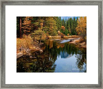 Merced River And Half Dome Framed Print