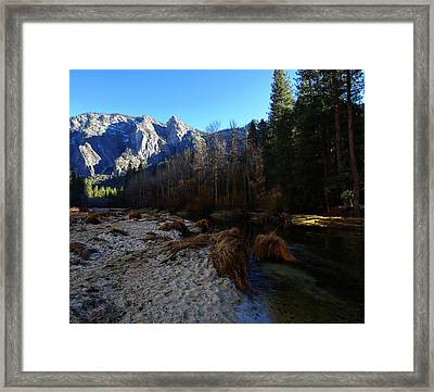 Merced River Beach Framed Print by Scott McGuire