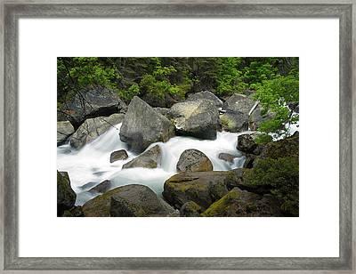 Framed Print featuring the photograph Merced River by Chuck De La Rosa