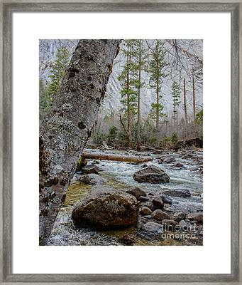 Merced River From Happy Isles Framed Print