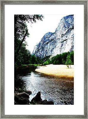 Merced River In Yosemite National Park  Framed Print by Laraine  C Photography