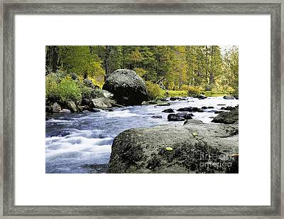 Merced River In Yosemite Framed Print