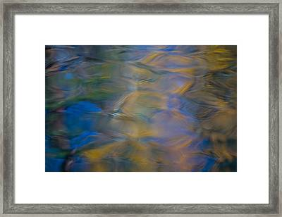Merced River Reflections Framed Print by Larry Marshall