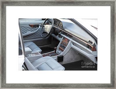 Mercedes 560 Sec Interior Framed Print by Gunter Nezhoda