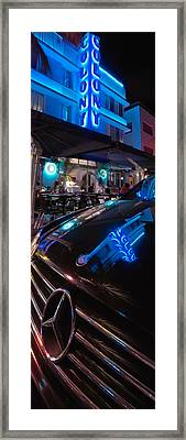 Mercedes At The Colony Framed Print