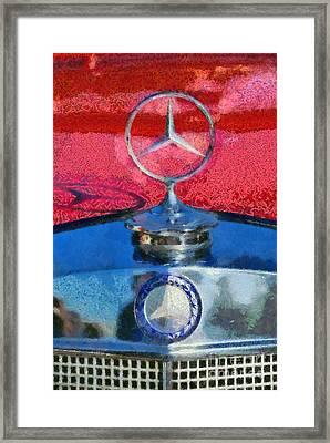 Mercedes Badge Framed Print by George Atsametakis