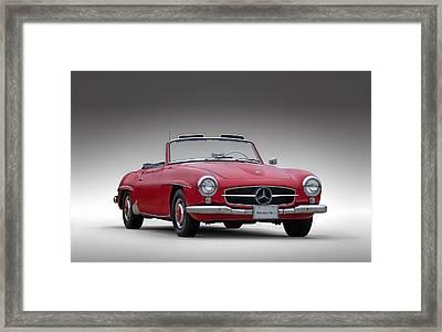 Mercedes-benz 190 Sl Framed Print by Douglas Pittman