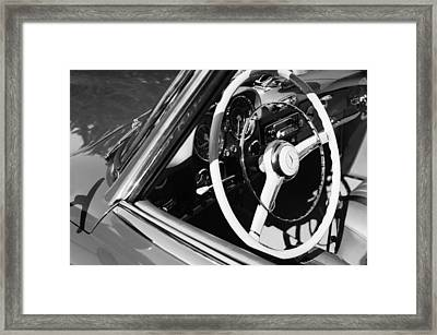 Mercedes-benz 190sl Steering Wheel Framed Print by Jill Reger