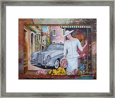 Mercedes-benz 220 S Cabriolet Framed Print