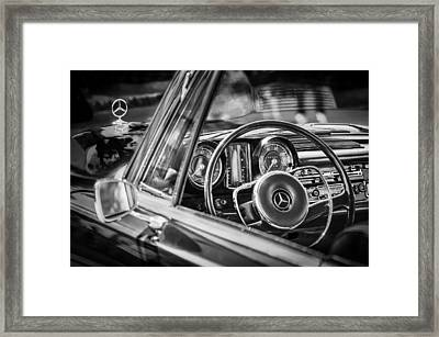 Mercedes-benz 250 Se Steering Wheel Emblem Framed Print by Jill Reger