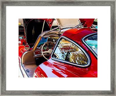 Mercedes Benz 300 Sl Framed Print by SM Shahrokni