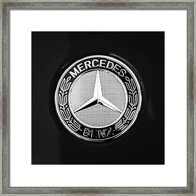 Mercedes-benz 6.3 Gullwing Emblem Framed Print by Jill Reger
