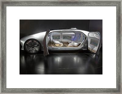 Mercedes-benz F015 Autonomous Car Framed Print by Jim West