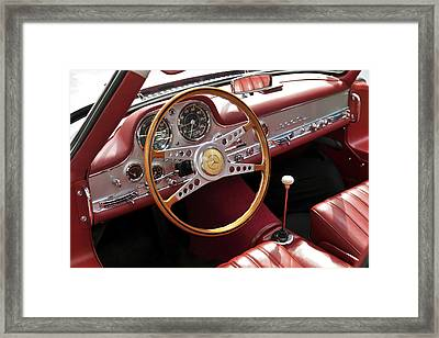 Mercedes Benz Gullwing 1956 Framed Print by Maj Seda