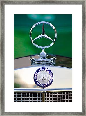 Mercedes Benz Hood Ornament 3 Framed Print by Jill Reger