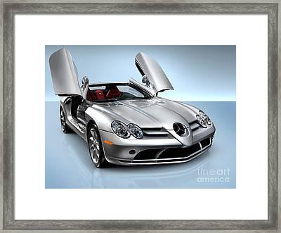 Mercedes Benz Slr Mclaren Framed Print