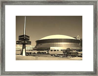 Mercedes Benz Superdome - New Orleans La Framed Print