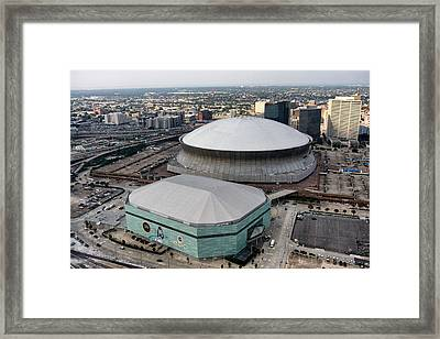 Mercedes-benz Superdome Framed Print by Georgia Fowler