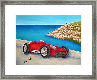 Mercedes Benz W196 Formula Framed Print by Pamela Allegretto