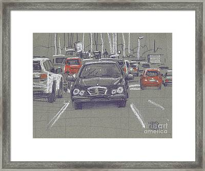 Framed Print featuring the painting Mercedes by Donald Maier