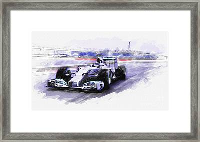 Mercedes F1 W05 Framed Print