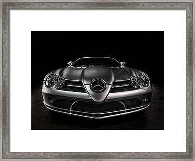 Mercedes Mclaren Slr Framed Print by Douglas Pittman
