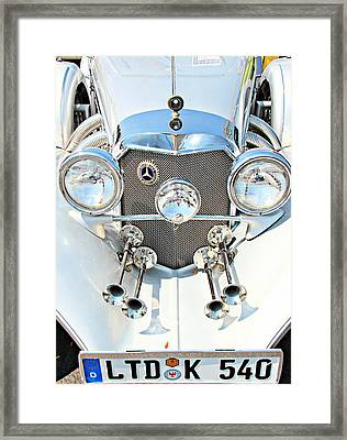 Framed Print featuring the photograph Mercedes Of Old  by Aaron Berg
