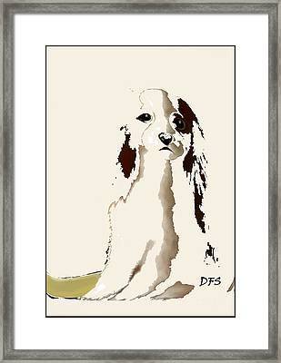 Mercedes  - Our Cavalier King Charles Spaniel  No. 9 Framed Print