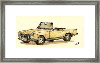Mercedes Sl Framed Print by Juan  Bosco