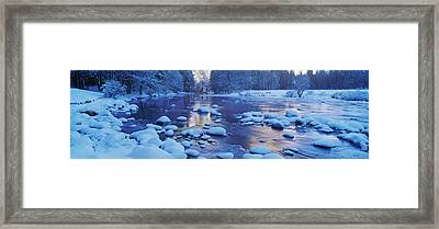 Mercer River, California In Winter Framed Print by Panoramic Images