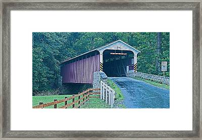 Mercer's Mill Covered Bridge Framed Print