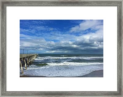 Mercer's Pier Framed Print by Karen Rhodes