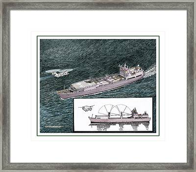 Marine Sea Lift Framed Print