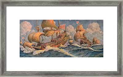 Merchant Ships Of 1640 Framed Print