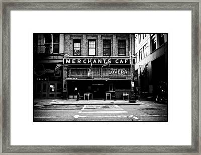Merchant's Cafe Framed Print by Tanya Harrison