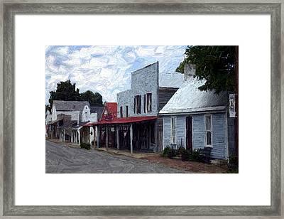 Merchants' Row - Perryville Ky Framed Print