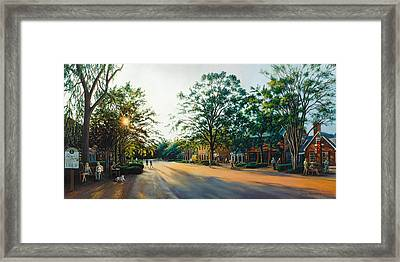 Merchants Square In The Late Afternoon Framed Print by Gulay Berryman