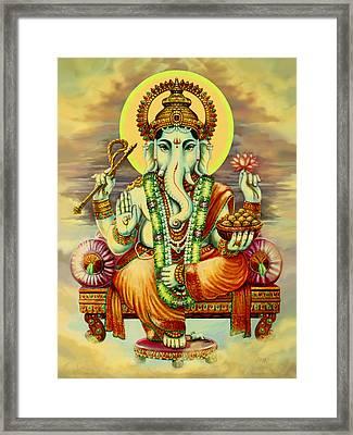 Merciful Ganesha Framed Print by Svahha Devi