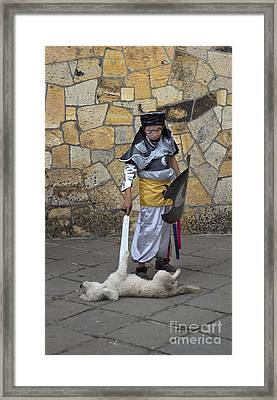 Merciless Moors In Gualaceo Framed Print by Al Bourassa