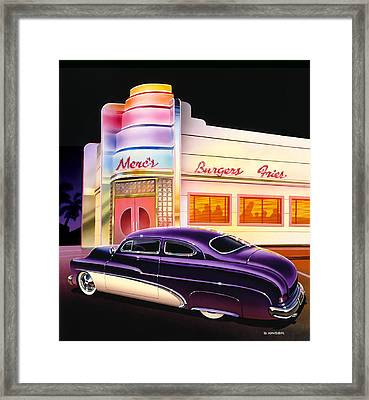 Mercs Burgers Framed Print by Bruce Kaiser
