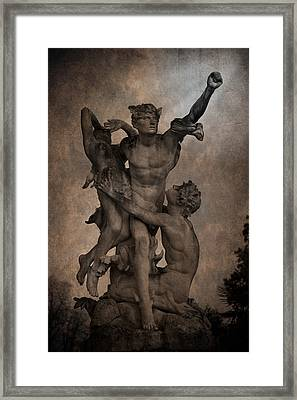 Mercury Carrying Eurydice To The Underworld Framed Print by Loriental Photography