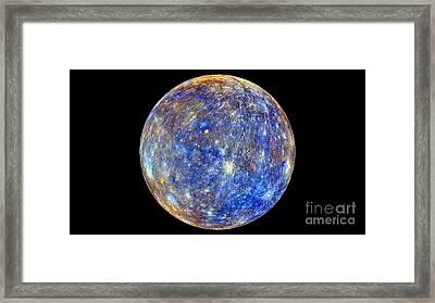 Mercury Hemisphere, Messenger Image Framed Print