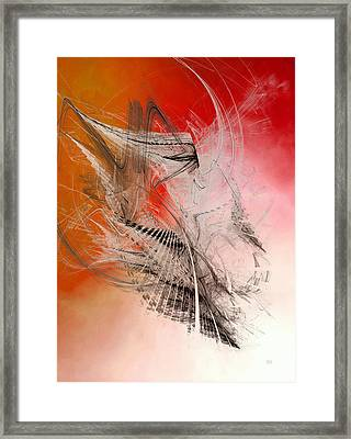 Mercury In Aries - Cardinal Fire Framed Print by Menega Sabidussi