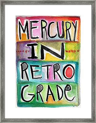 Mercury In Retrograde Framed Print by Linda Woods