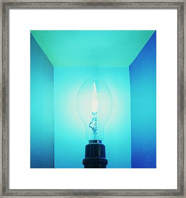 Mercury Lamp Framed Print